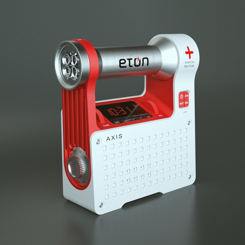 3ds max photoreal alarm clock radio