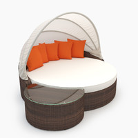 perectiona canopy daybed outdor 3d model