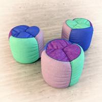 3d pouf chair model