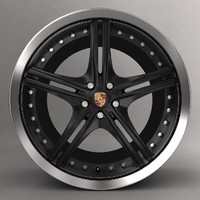 Porsche wald wheel alloy with logo