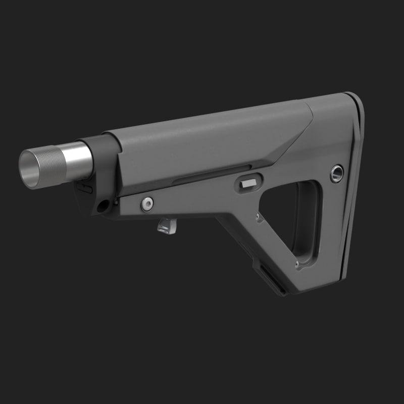 3d model ubr stock magpul