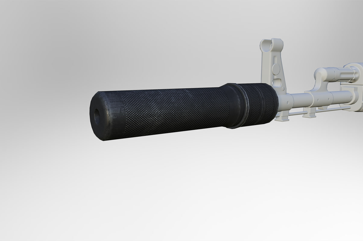 3d model rifle silencer