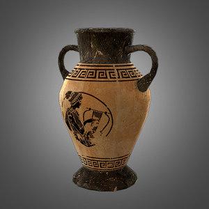 3d ready amphora pot