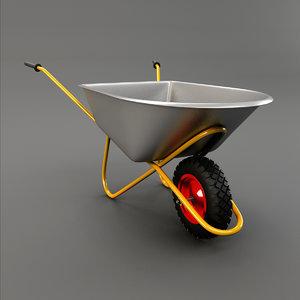 wheelbarrow wheel barrow 3d max