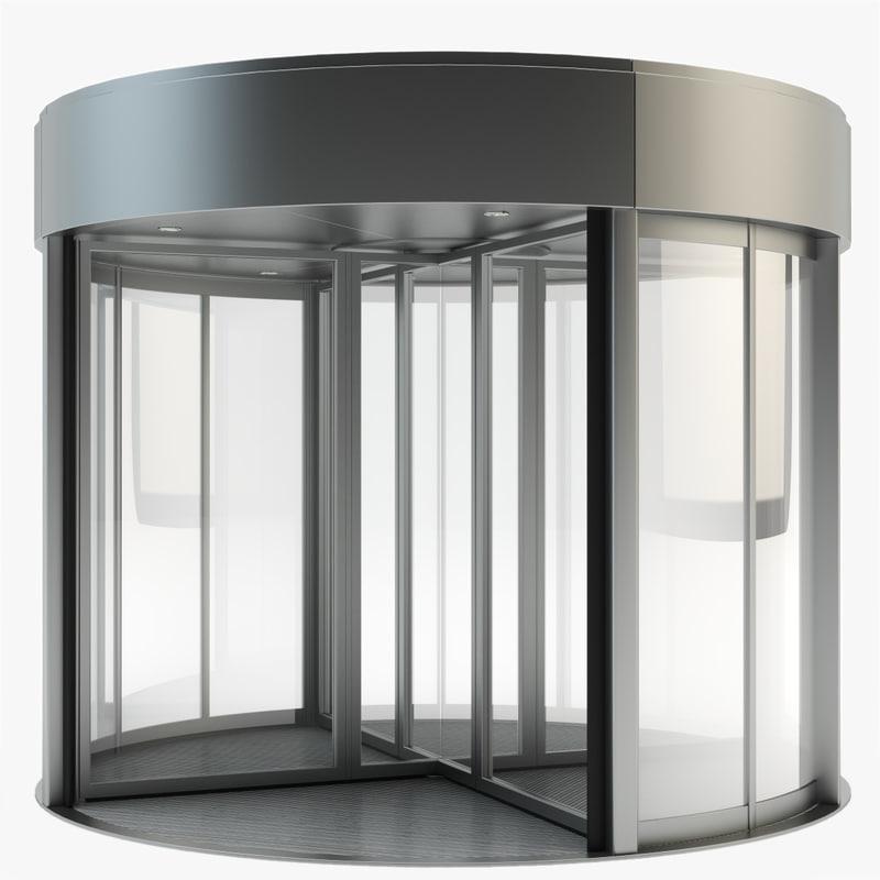 3d model door revolving for Door 3d model