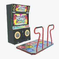 3d model pump fiesta dance machine