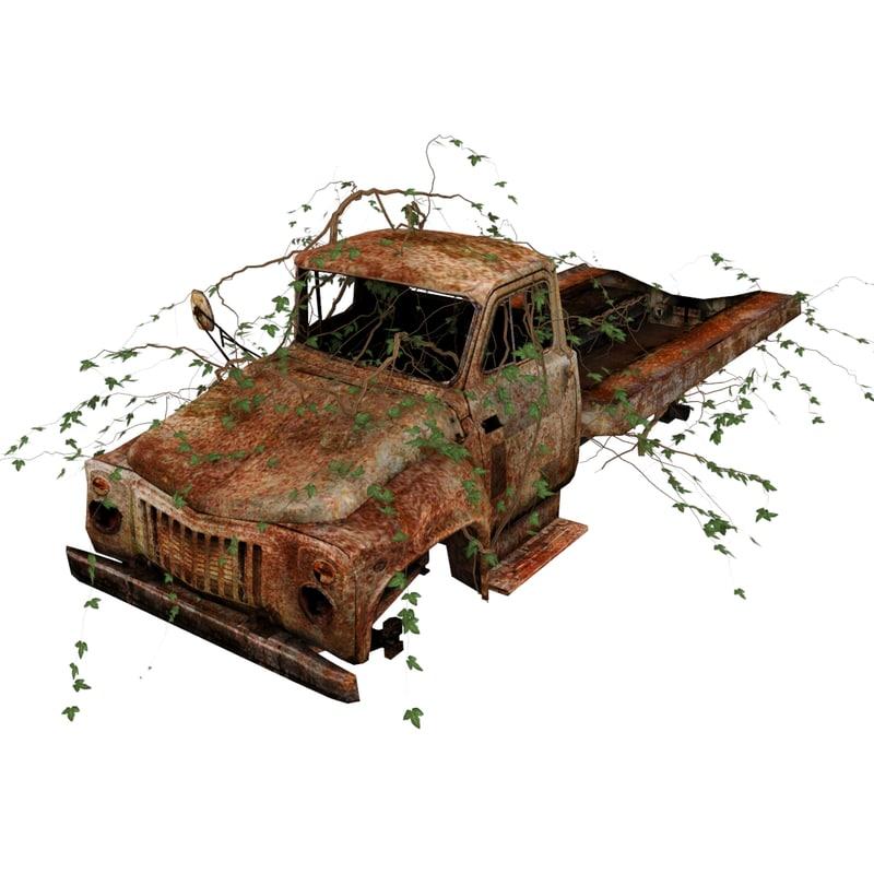 3d model wrecked truck