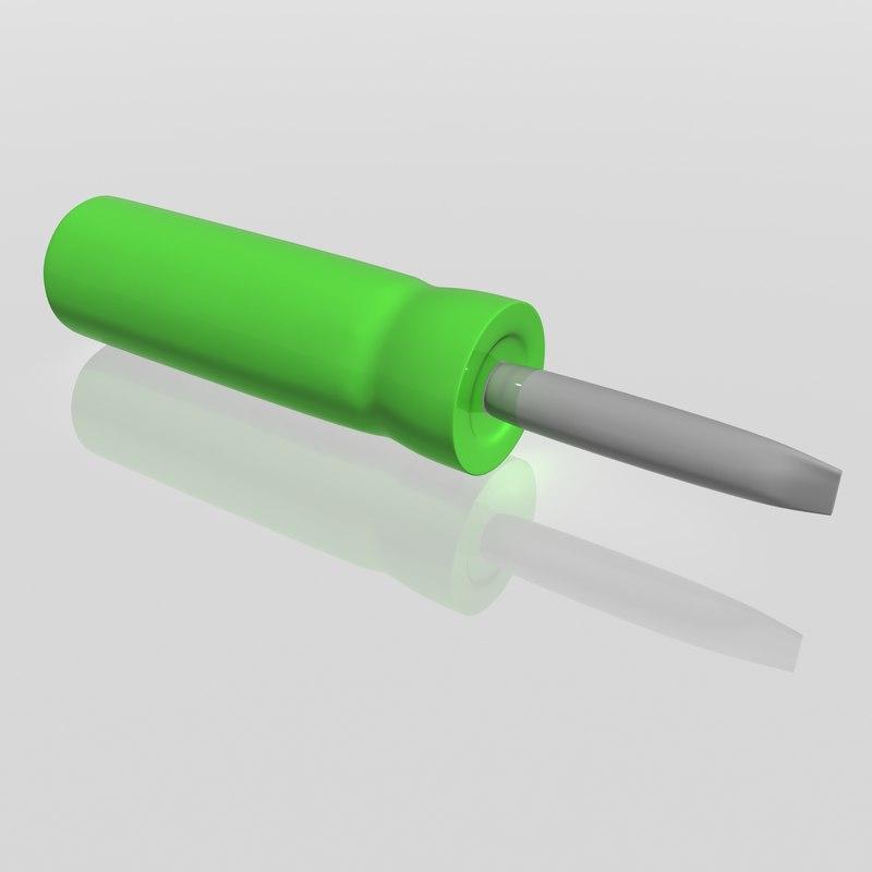 screwdriver 3d max