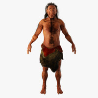 neanderthal man 3d max