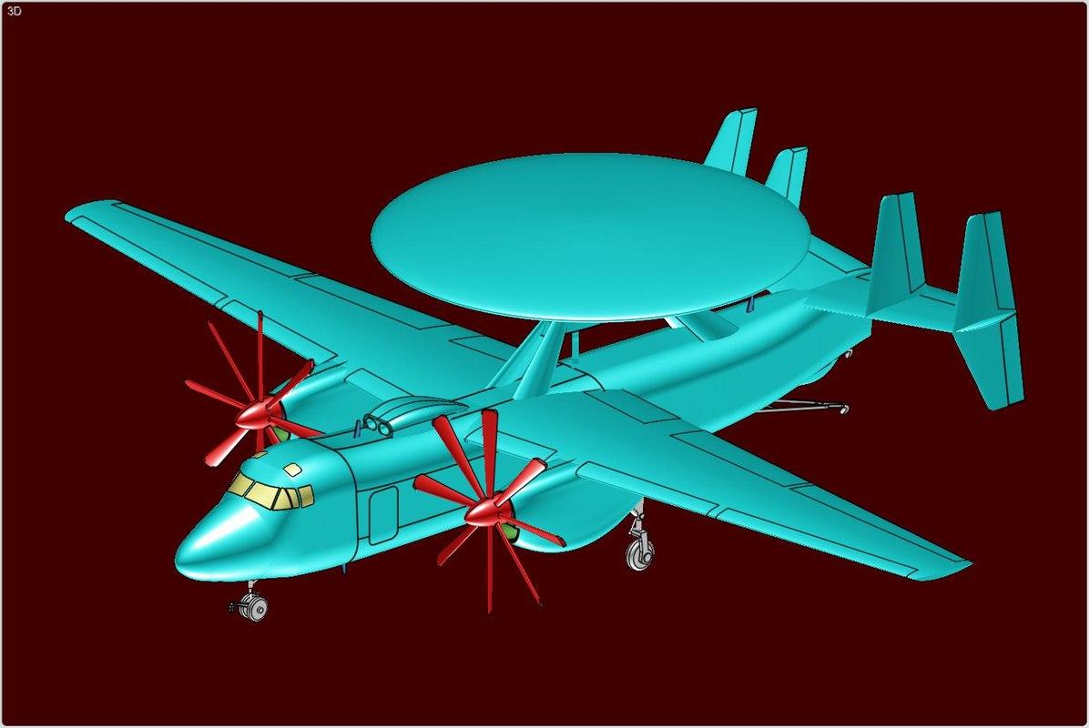 e-2d advanced hawkeye aircraft 3d 3ds