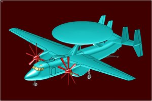 e-2d advanced hawkeye aircraft 3d 3ds