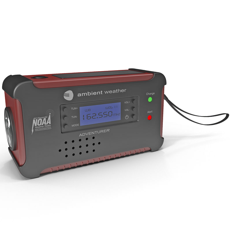 3d emergency solar radio cell phone model