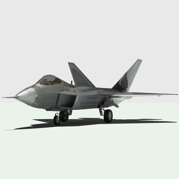 f-22 raptor fighter aircraft 3d 3ds