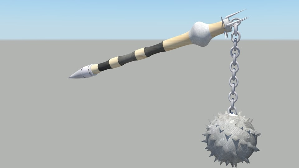 3d medieval flail model