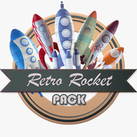 3d model retro rocket pack