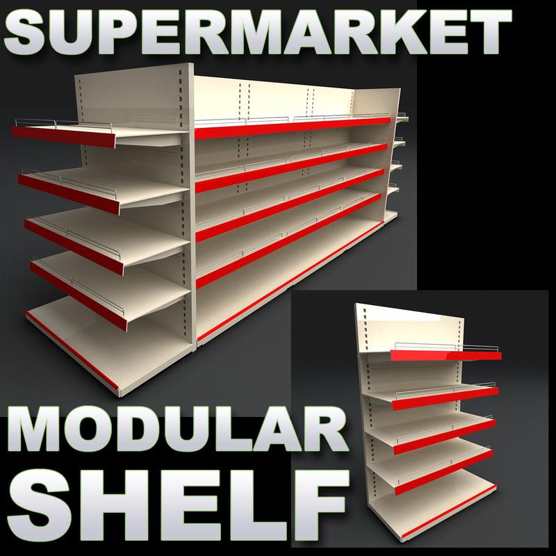 3d max supermarket super market