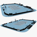 tennis court 3D models