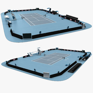 open tennis arena c4d