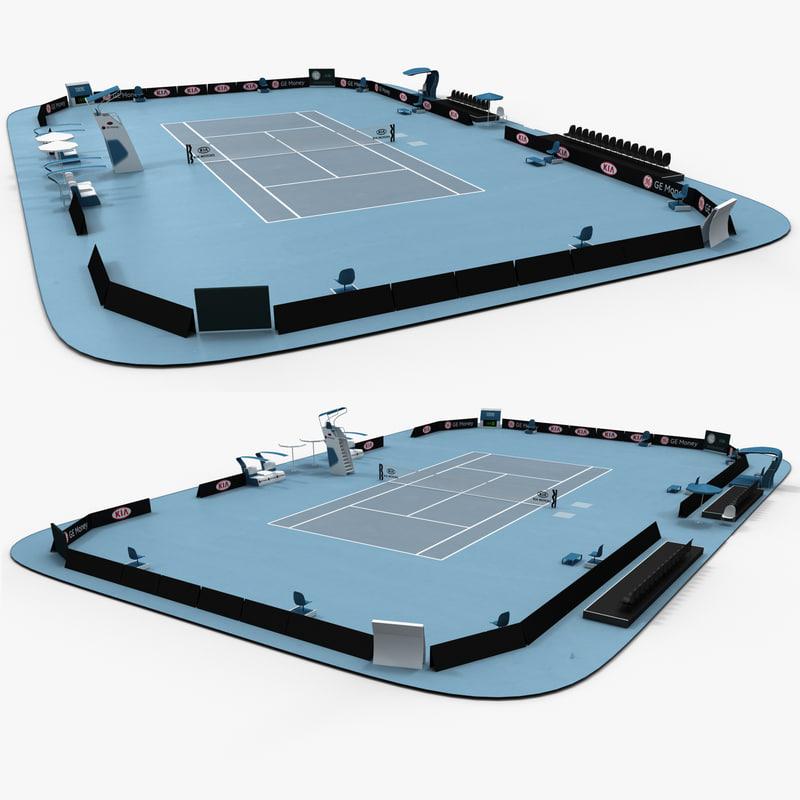 open tennis arena c4d