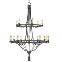 Currey and Company - Priorwood Chandelier Lighting