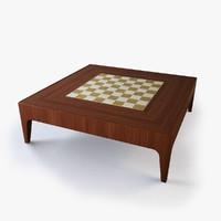 maya modern chess coffee table