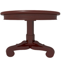 3d model decorative victorian table