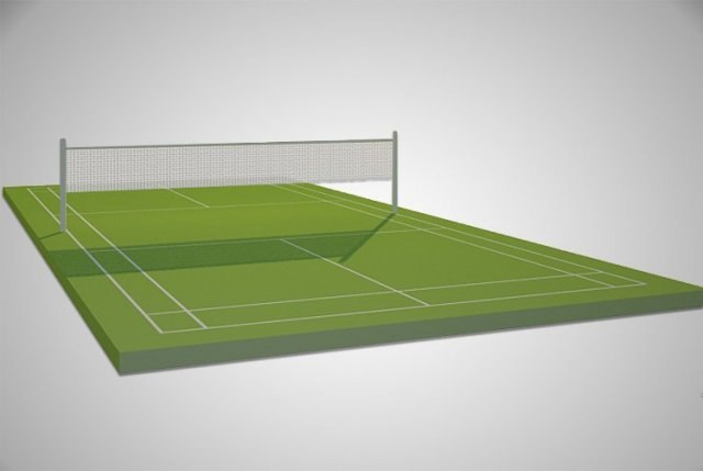 3d model of tennis courts