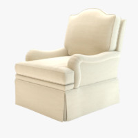 Kindel Upholstery Collection Camel-Back Lounge Chair