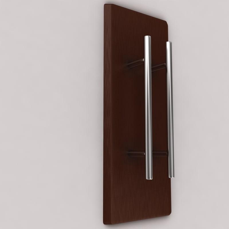 3d model of door handle
