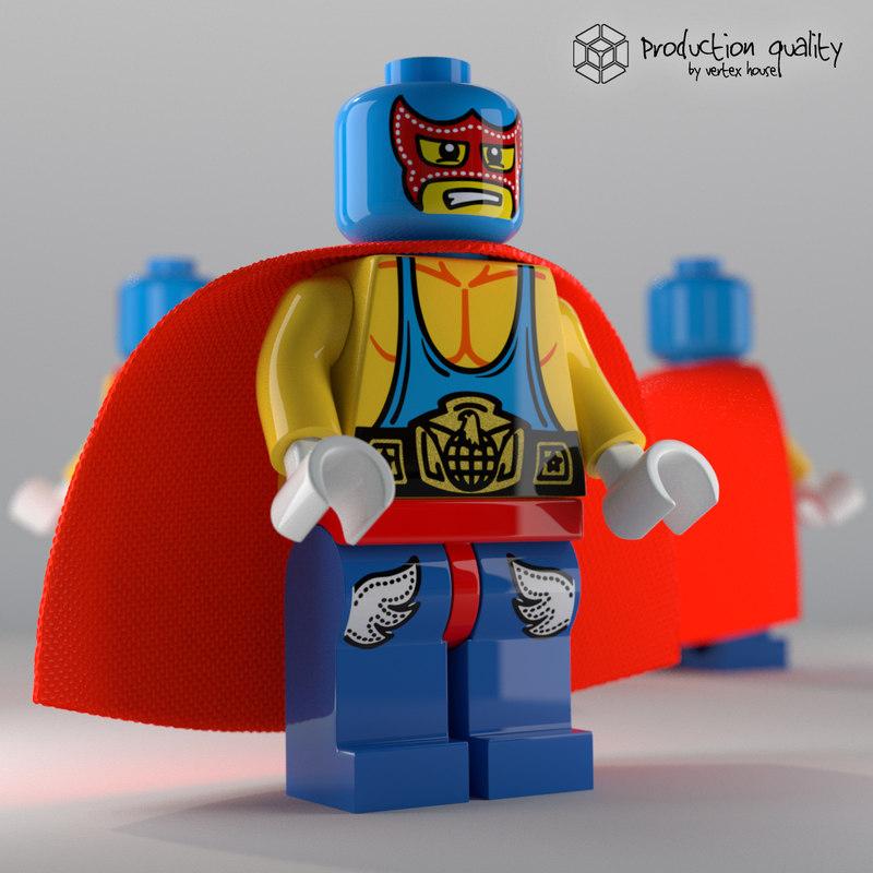 maya lego super wrestler figure
