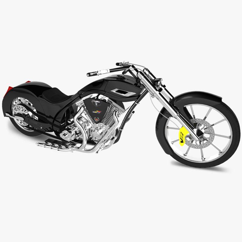 3d model american chopper cadillac cts-v