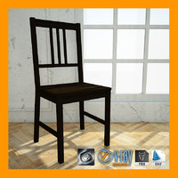 3d model ikea stefan chair materials
