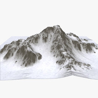 landscape terrain mountain 3d model