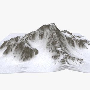 landscape terrain mountain 3d model