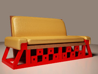 3d model custom relax sofa