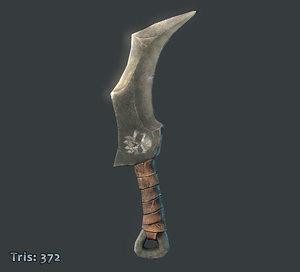 fantasy goblin knife 3d obj