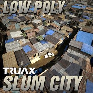 3d slum city model