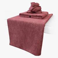 3d model towel cloth fabric