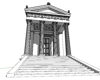 3d model ellenistic temple
