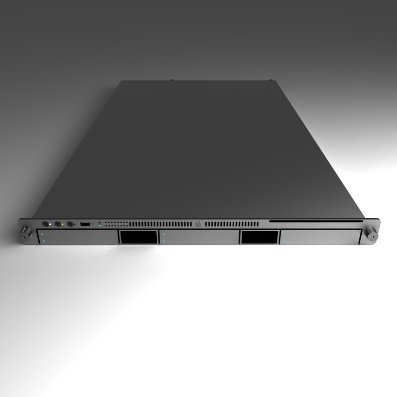 3d model server intel apple xserve