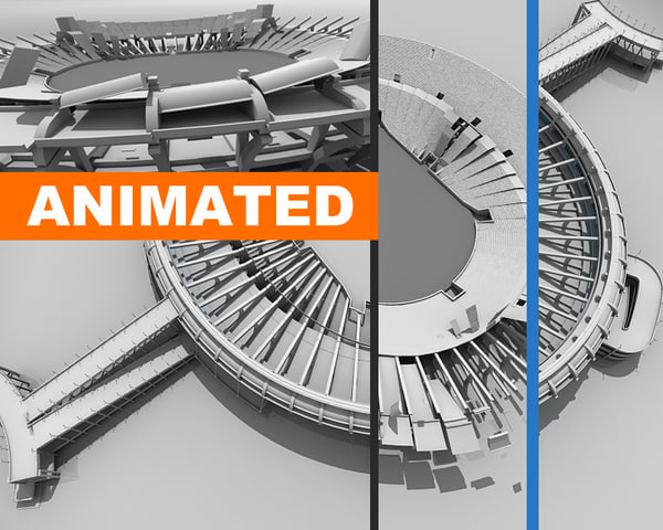 animation stadium 3d model
