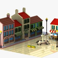 Cartoon Town Square