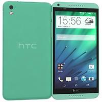 3d htc desire 816 green