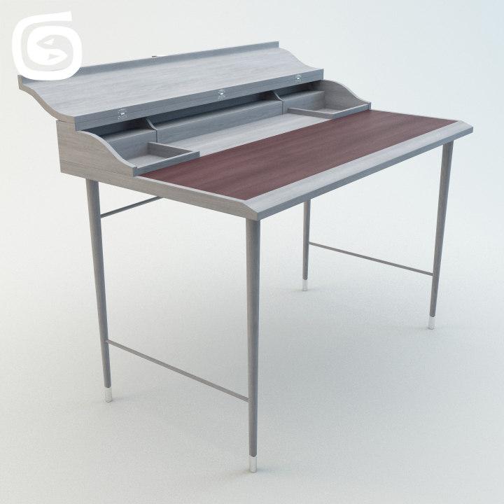 3d max laval writing desk
