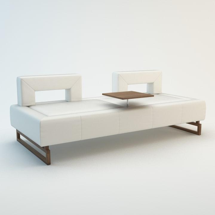 3d model bridge sofa