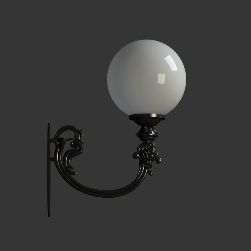 3d model wall lantern