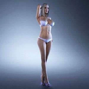 fitness girl rigging female body 3d max