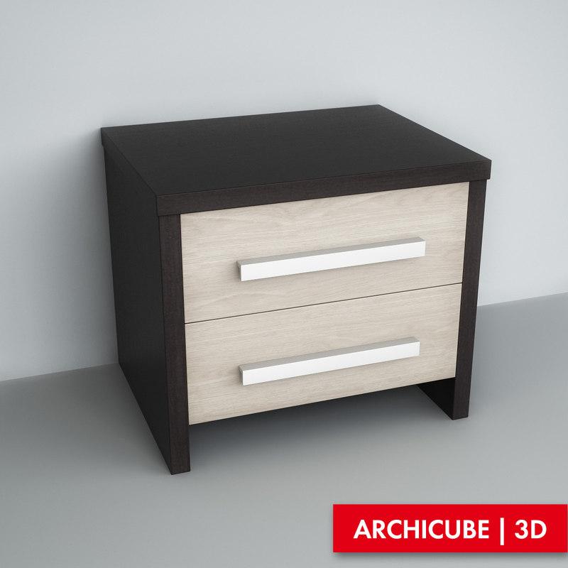 commode chest 3d model