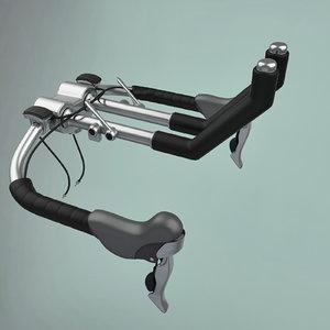 3d model steering wheel bike