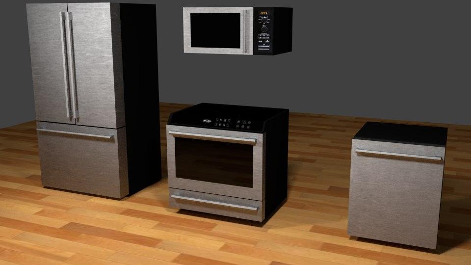 3d model of piece kitchen appliance